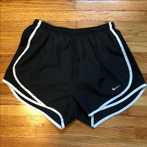Classic black Nike running shorts   size small